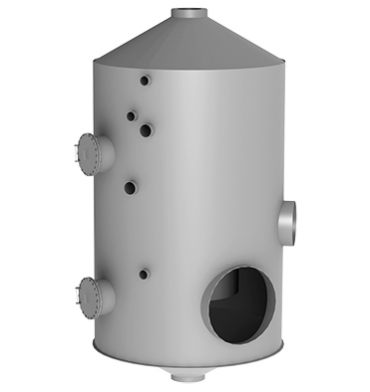 Massecuite vapour condenser of the A and B, C products' vacuum pans